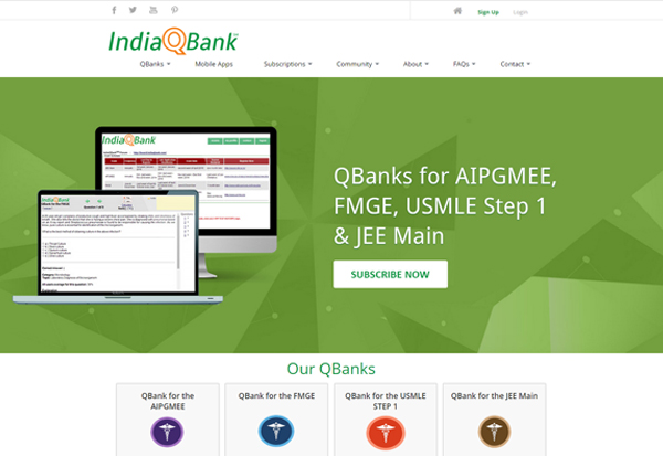Qbanks for AIPGMEE, FMGE, USMLE Step 1 & JEE Main